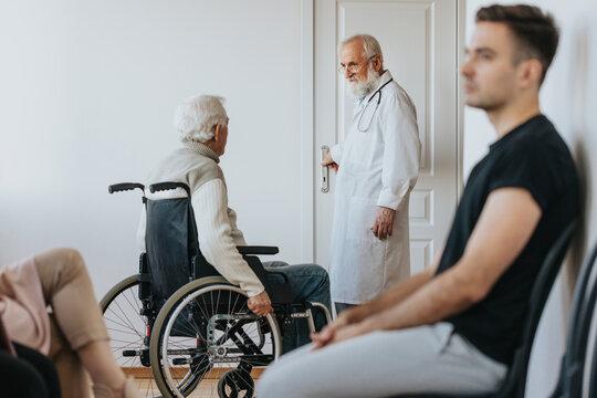 Man on a wheelchair