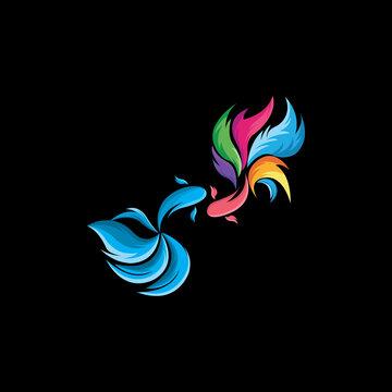 guppy fish icon vector logo free