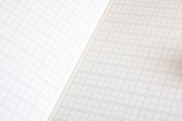 White notebook for writing hieroglyphs close up Wall mural