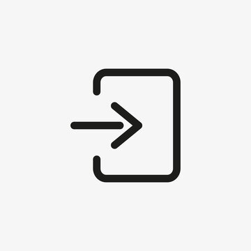 Exit button sign. Log out, sign out button icon for website and app design.