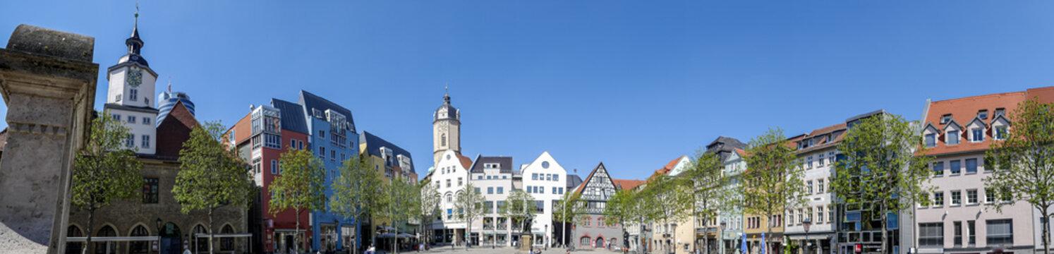 Panoramablick von der Stadt Jena in Thüringen