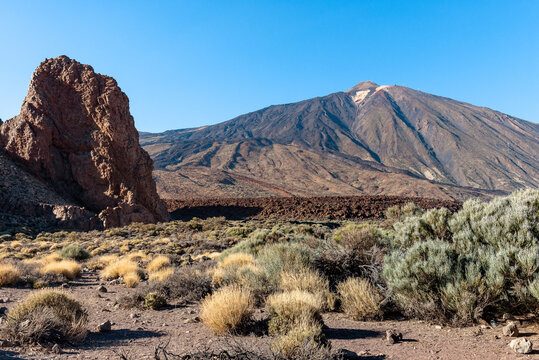 Peak of Teide volcano, Teide National park, Tenerife Island, Spain