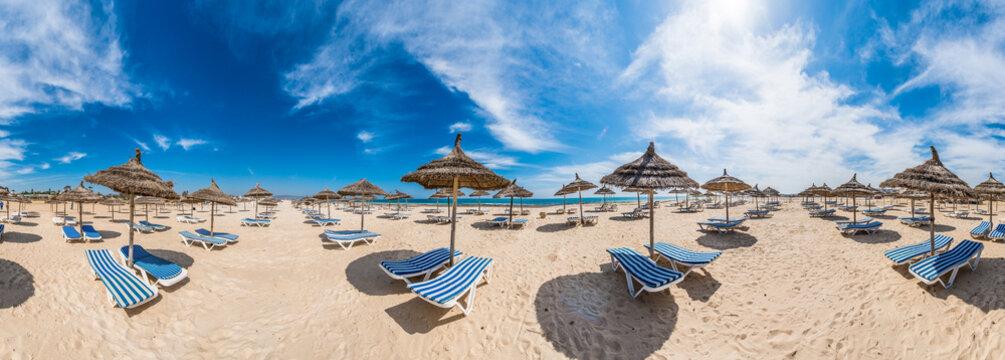 Tunisia sunny beach in northern Africa