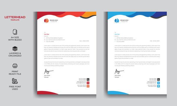 Professional Clean Letterhead Design Template