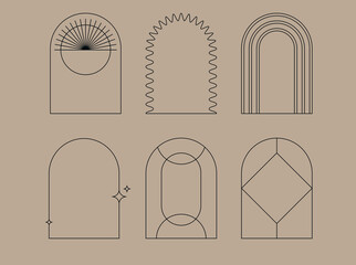 Obraz Vector set of design elements and shapes for abstract backgrounds and modern art - - fototapety do salonu