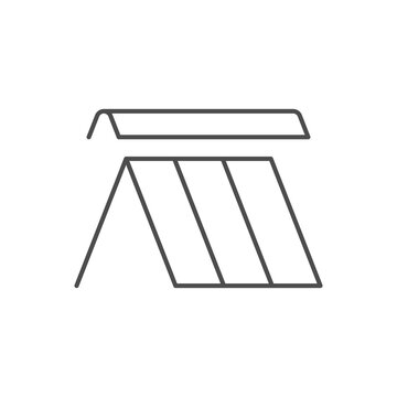 Roof ridge line outline icon