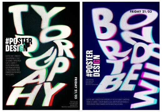 RGB Shift Poster Design Mockup