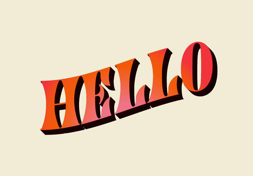 Colourful 3D Text Effect