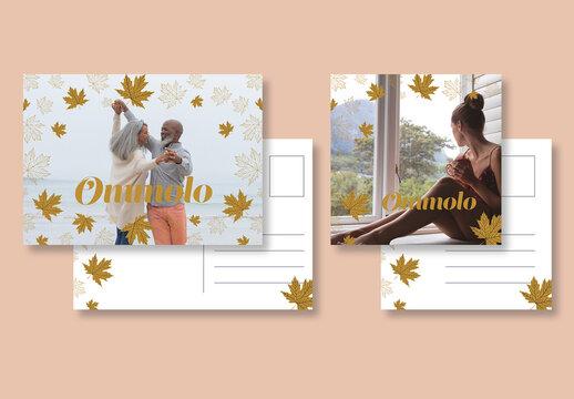 Autumn Foliage Postard Set