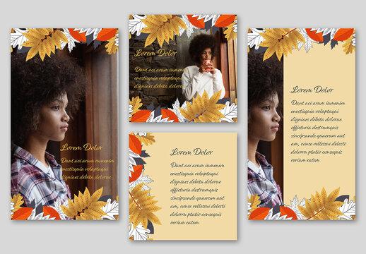 Autumn Foliage Social Set