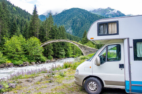 traveling with van  and camp  at  forests