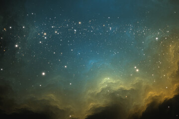 Space background with extrasolar nebula and stars