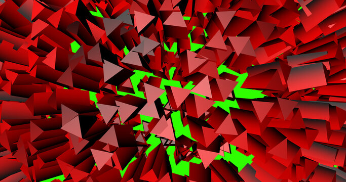 Explosion is divided into many elements in 3d. Background of an abstract blast into particles.
