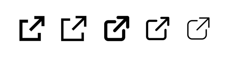 external link icon vector sign