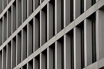 Pattern, architecture, grey wall with windows, building, house, new style, modern, texture, office, glass and concentrate