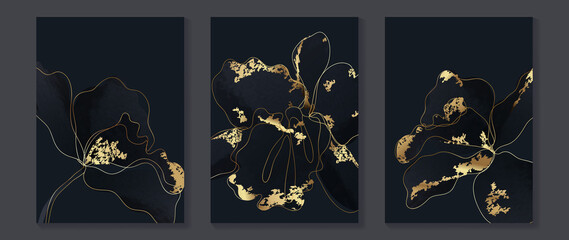 Obraz Abstract flower Math art background vector. Modern block color art wallpaper. Geometric marbling gold style texture. Cubism slow-poly backgrounds. Good for wall art, poster, invite and cover. - fototapety do salonu