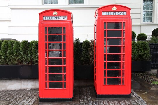 London UK - red telephone booths