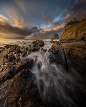 Stunning Sunrise at Cape Kiwanda on the Oregon Coast