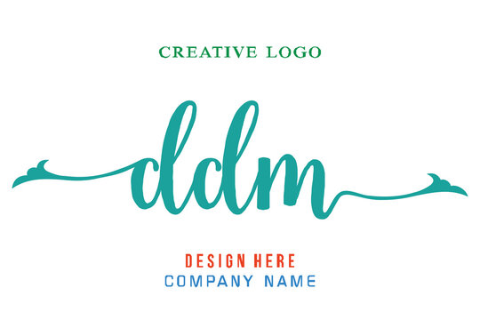 DDM lettering logo is simple, easy to understand and authoritative