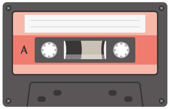 カセットテープ単体のイメージイラスト(記録媒体)