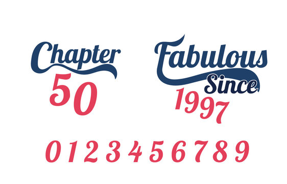 Fabulous Since Birth Year template,  Typography for print or use as poster, card, flyer or T Shirt