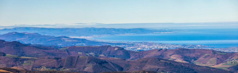 panoramic view of Galicia from the top of Penouta Asturias