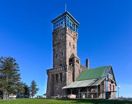 Hornisgrinde Tower on Hornisgrinde mountain. Black Forest, Baden-Wuerttemberg, Germany, Europe