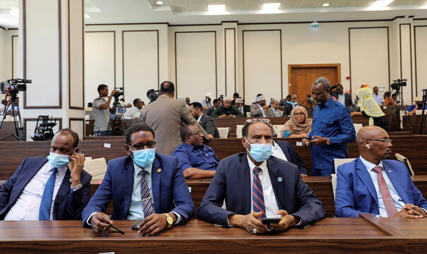 Somalia legislators are seen inside the lower house of Parliament in Mogadishu