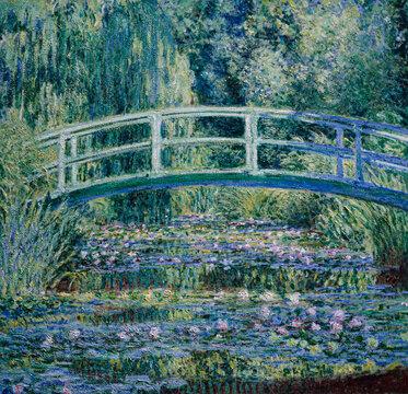 Claude Monet, Water Lilies and Japanese Bridge, 1899, Princeton University Art Museum, New Jersey, USA.