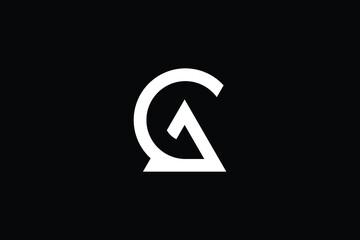Fototapeta AG logo letter design on luxury background. GA logo monogram initials letter concept. AG icon logo design. GA elegant and Professional letter icon design on black background. AG GA obraz