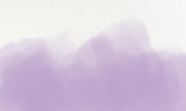 lavender watercolor background on white canvas