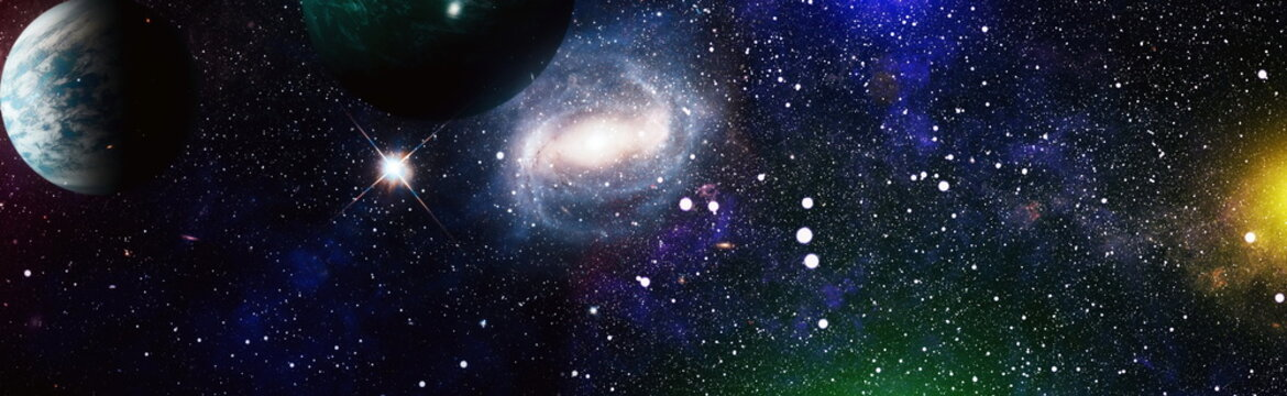 High quality space background. Bright Star Nebula. Distant galaxy. Elements of this image furnished by NASA.