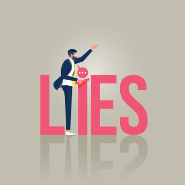 Lying people in business or politics concept
