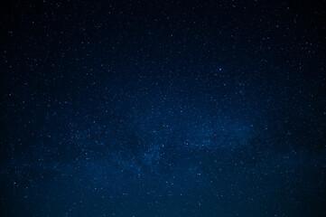 Fototapeta Blue night starry sky, space, background for screensaver. Astrology, horoscope, zodiac signs obraz