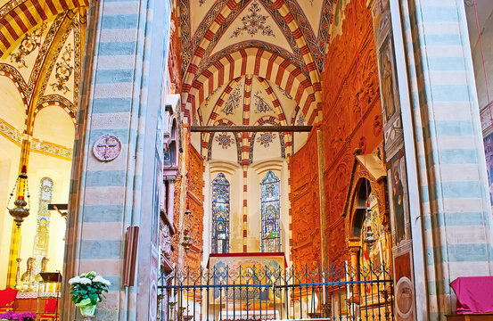 The Pellegrini Chapel in Basilica of Santa Anastasia, on April 23 in Verona, Italy
