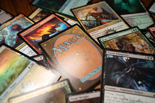 Bangkok, Thailand - May 2, 2021 : Magic: The Gathering was the first trading card game released in 1993.