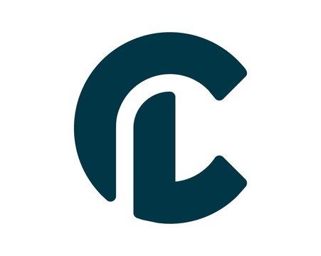modern initial letter CL logo