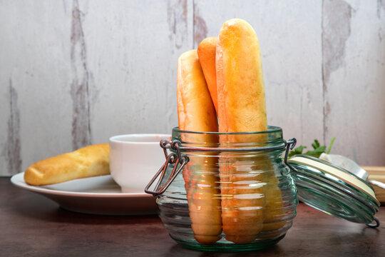 Breadsticks with dipping marinara sauce