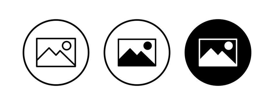 Picture icons set. Picture vector icon. photo gallery icon vector