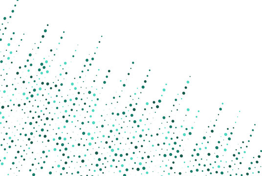 Light Blue with Green vector illustration which consist of circles and Dotted gradient design for your business and Creative geometric background in halftone style.eps