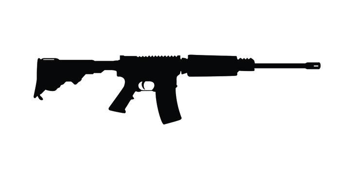 Long range gun vector. Military gun sign or symbol.