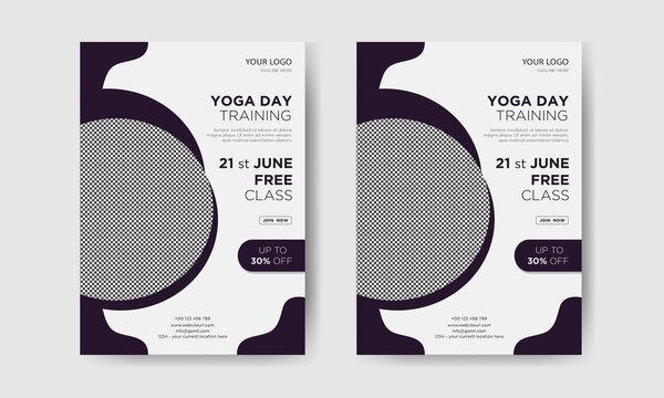 Yoga day training flyer