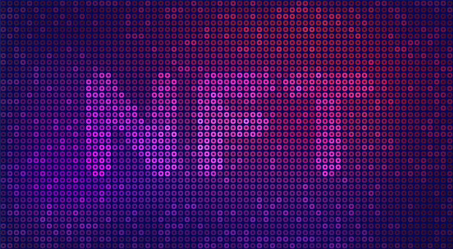 Vector illustration of a non fungible token. NFT background for infographics. Digital technology concept. Crypto art. Futuristic neon wallpaper with typography