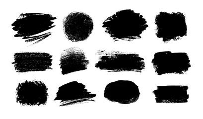 Fototapeta Collection of grunge vector hand drawn elements obraz