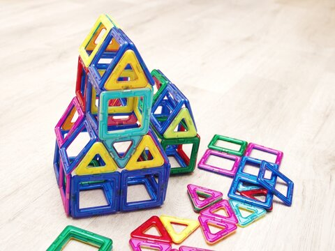magnetic constructor, blocks for children, a game of many elements