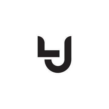 lj initial letter vector logo
