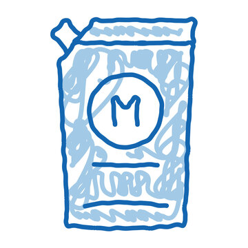 pack of mayonnaise with dispenser doodle icon hand drawn illustration