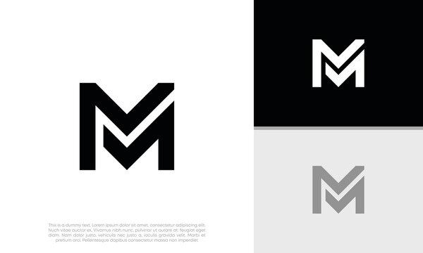 Initials M logo design. Initial Letter Logo.