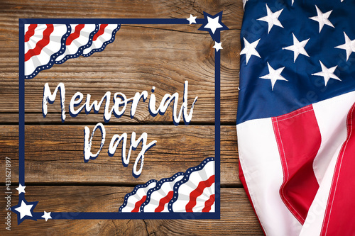 Greeting card for Memorial Day celebration