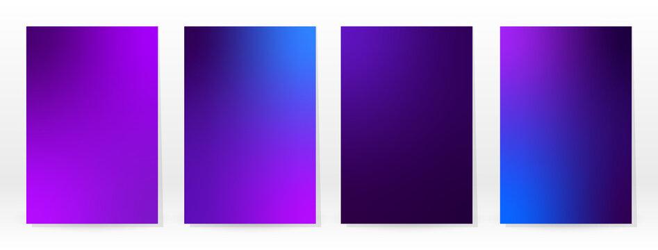 Minimal Poster. Pastel Soft. Violet Gradient Set.
